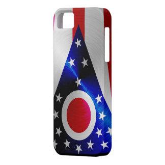 Ohio Flag; metal-look iPhone 5 Case