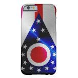 Ohio Flag; metal-look iPhone 6 case