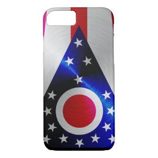 Ohio Flag; metal-look iPhone 7 case