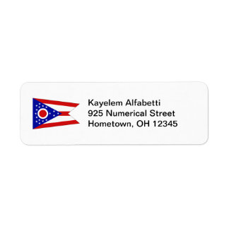 Ohio Flag Return Address Label