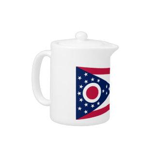 Ohio Flag Teapot