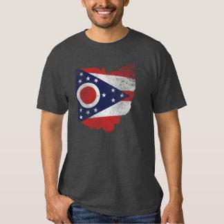 Ohio Flag Worn T-shirt