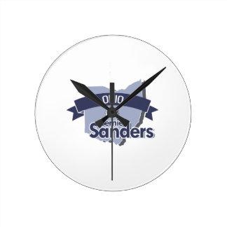 Ohio for Bernie Sanders Round Clocks