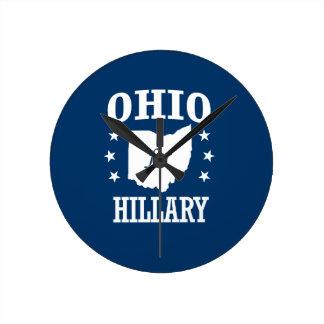 OHIO FOR HILLARY ROUND CLOCK