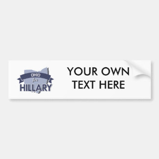 OHIO FOR HILLARY -.png Bumper Stickers