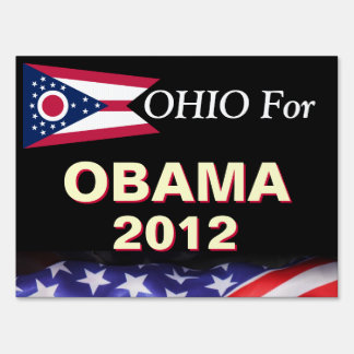 Ohio For Obama 2012 Campaign Yard Sign