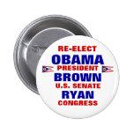Ohio for Obama Brown Ryan 2 Inch Round Button