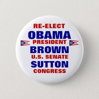 Ohio for Obama Brown Sutton Button