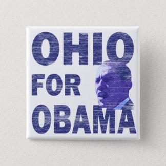 Ohio for Obama Square Pinback Button