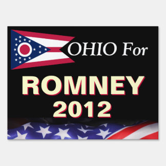 Ohio For Romney 2012 Campaign Yard Sign