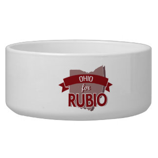 OHIO FOR RUBIO -.png Dog Water Bowl