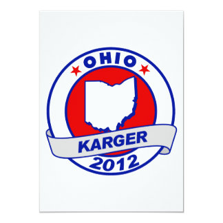 Ohio Fred Karger 5x7 Paper Invitation Card