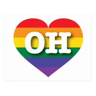 Ohio Gay Pride Rainbow Heart - Big Love Postcard