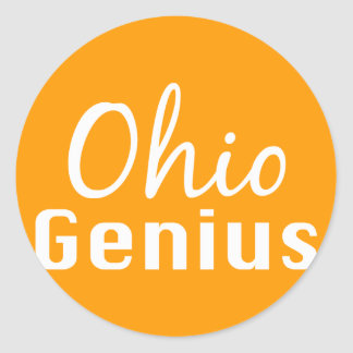 Ohio Genius Gifts Classic Round Sticker