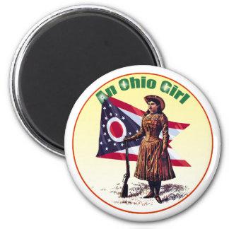 Ohio Girl, Annie Oakley Fridge Magnet