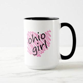 Ohio Girl with Scribbled Ohio Map Mug