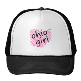 Ohio Girl with Scribbled Ohio Map Trucker Hat