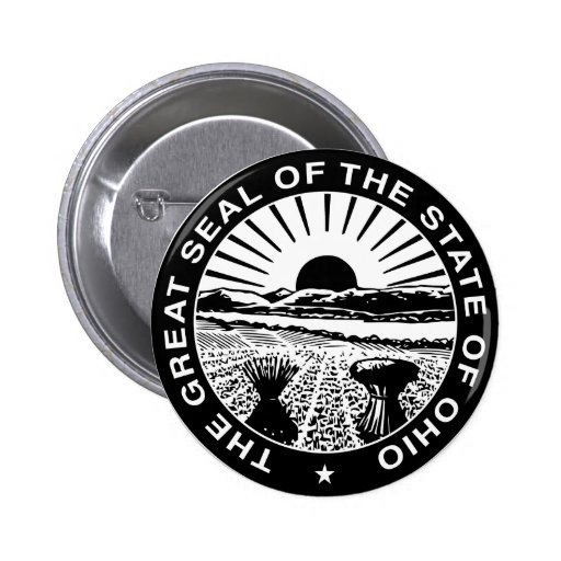 Ohio Great Seal 2 Inch Round Button