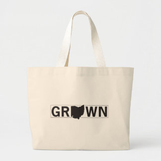 Ohio Grown. Cincinnati Raised. Large Tote Bag