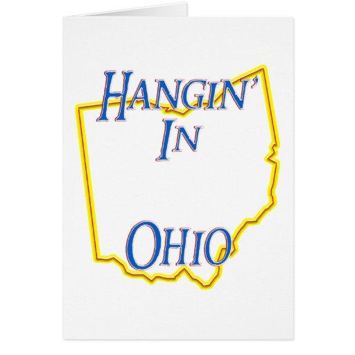 Ohio - Hangin Tarjeta De Felicitación