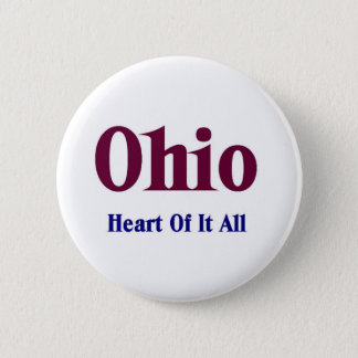 Ohio- Heart of it all Pinback Button
