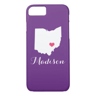 Ohio Heart Purple Custom Monogram iPhone 8/7 Case