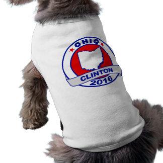Ohio Hillary Clinton 2016.png Playera Sin Mangas Para Perro
