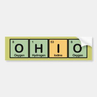 Ohio hizo de elementos pegatina para auto