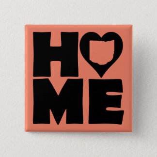 Ohio Home Heart State Button Badge Pin