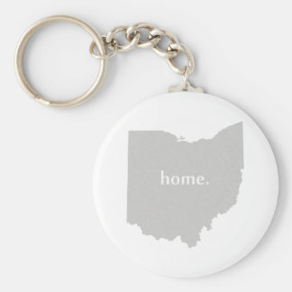 Ohio home silhouette state map keychain