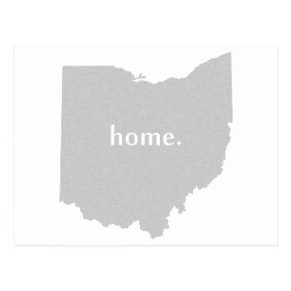 Ohio home silhouette state map postcard
