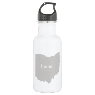 Ohio home silhouette state map stainless steel water bottle