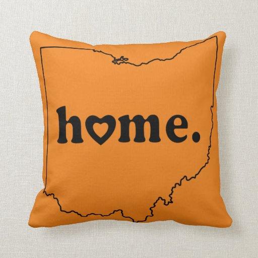 Throw Pillow That Says Home : Ohio Home Throw Pillow Zazzle