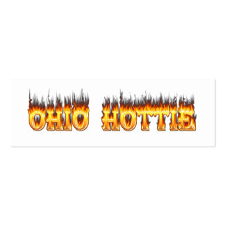 ohio hottie flame and fire business card templates