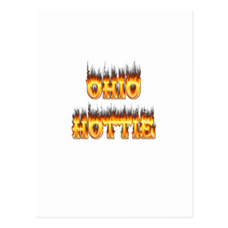 ohio hottie flame and fire postcard