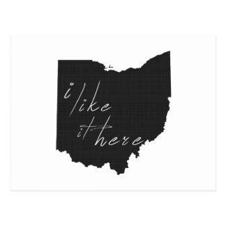 Ohio I tiene gusto de él aquí indica negro de la Tarjetas Postales