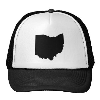 Ohio in Black and White Trucker Hat