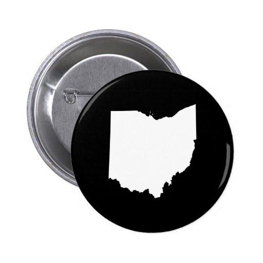 Ohio in White and Black 2 Inch Round Button
