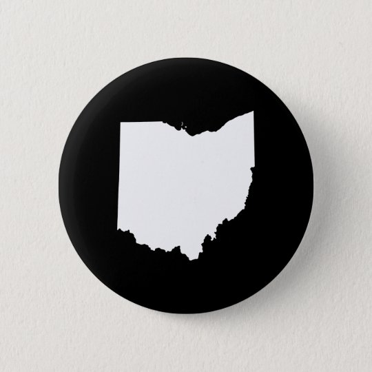 Ohio in White and Black Button