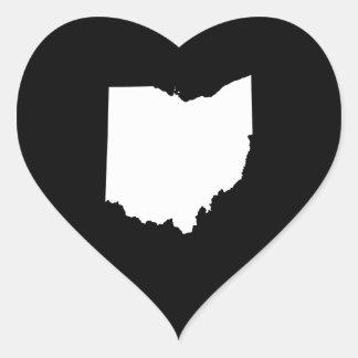 Ohio in White and Black Stickers