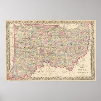 Ohio, Indiana 2 Posters