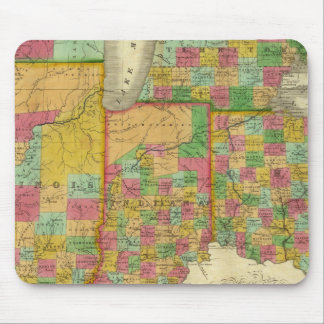 Ohio, Indiana, and Illinois Mouse Pad