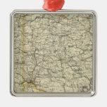 Ohio, Indiana, Kentucky, Virginia Occidental Adorno Cuadrado Plateado