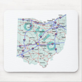 Ohio Interstate Map Mousepad