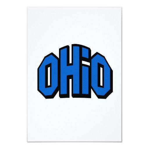 Ohio Invitación 8,9 X 12,7 Cm