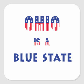 Ohio is a Blue State Square Sticker