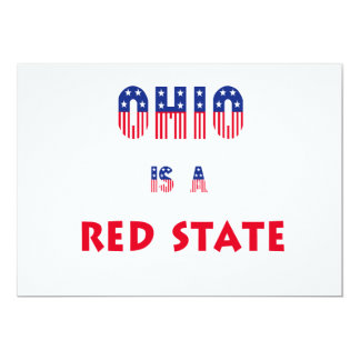 Ohio is a Red State Card