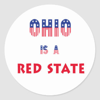 Ohio is a Red State Classic Round Sticker