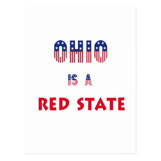 Ohio is a Red State Postcard