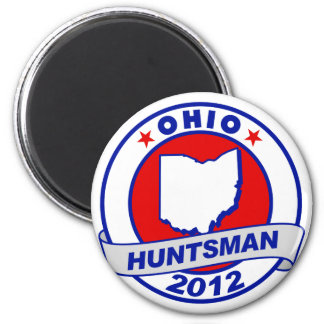 Ohio Jon Huntsman 2 Inch Round Magnet
